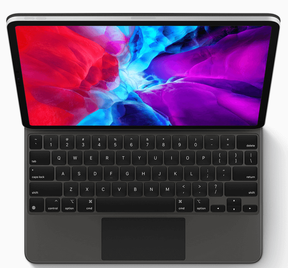 Front look of Apple's Magic Keyboard for 12.9 inch iPad Pro