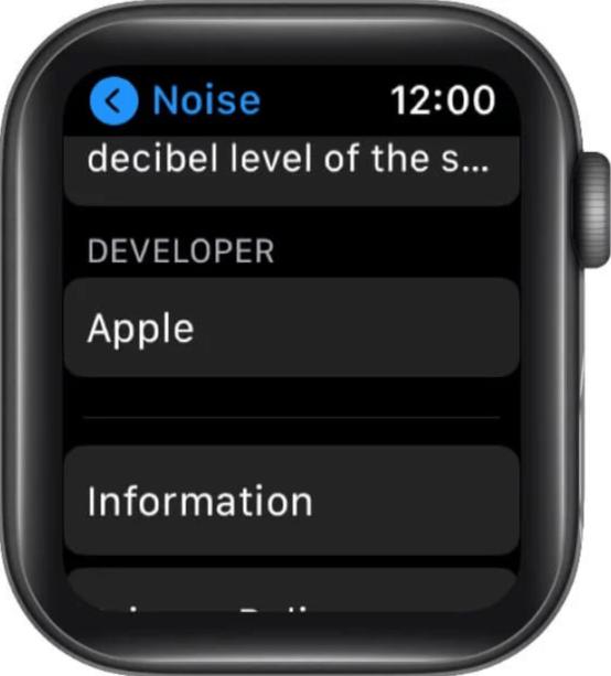 App detail while reinstalling on Apple watch series 6
