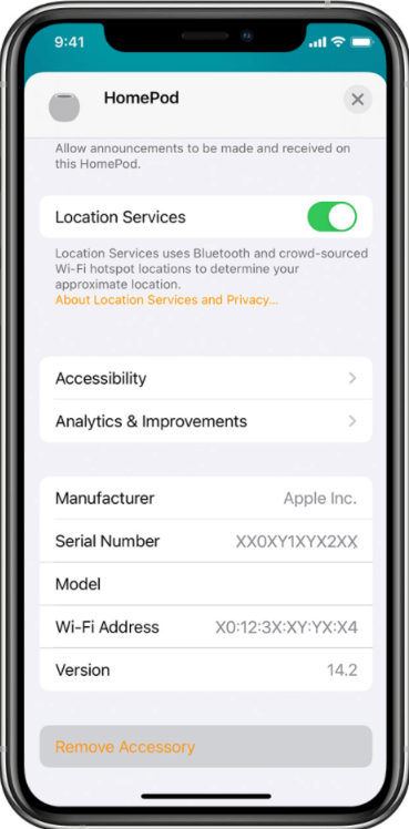Resetting HomePod in iPhone to use Handoff with Homepod mini