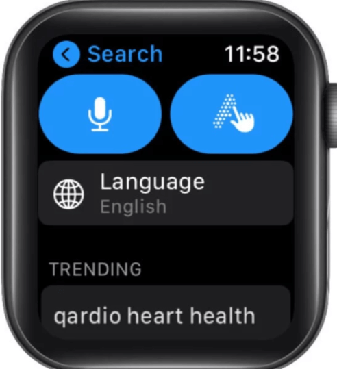 choosing search option to reinstall deleted Apple watch app