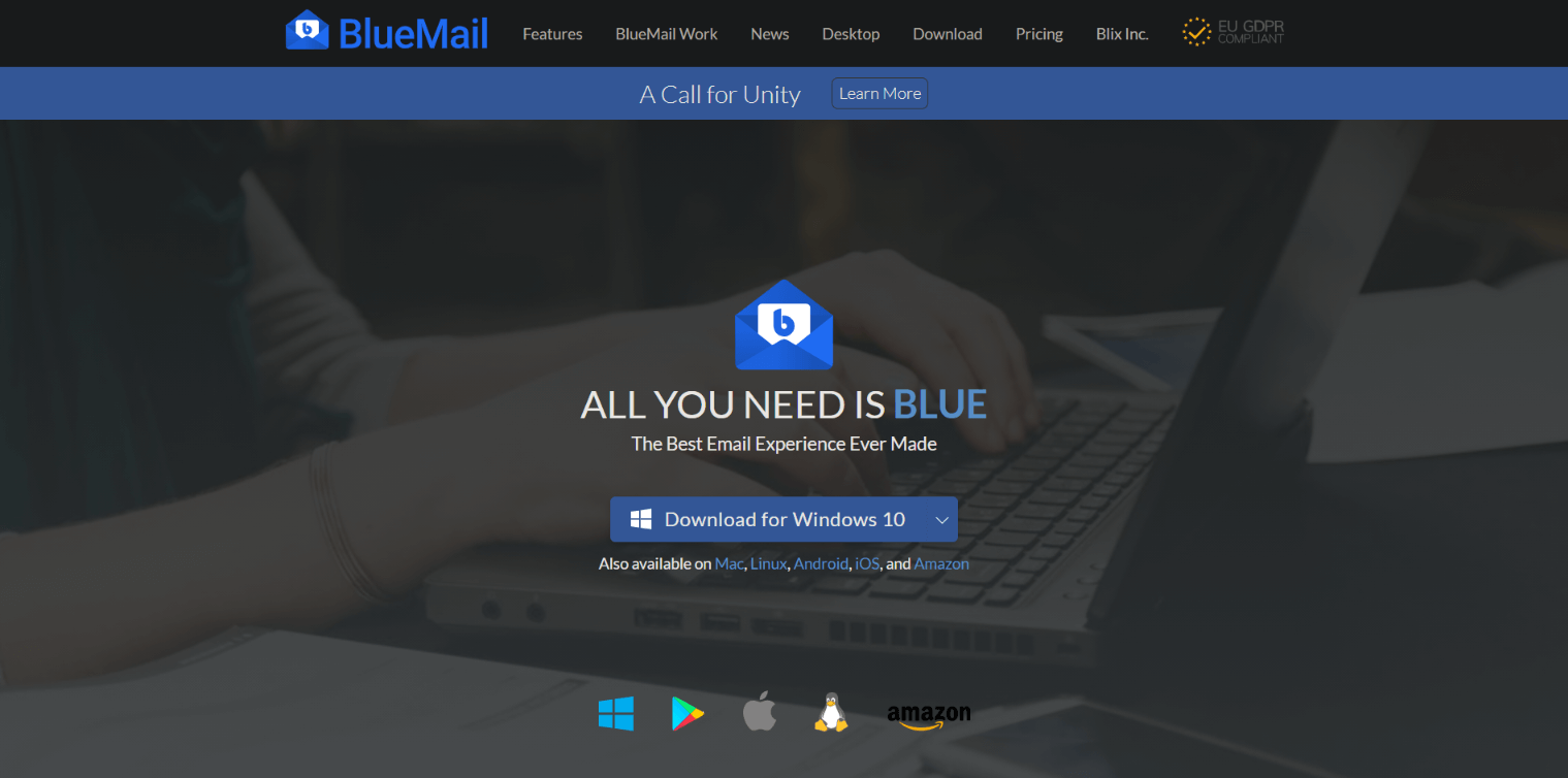 Blue Mail Simple and Powerful